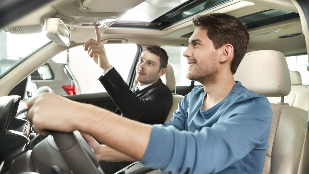 Image result for car salesman test drive