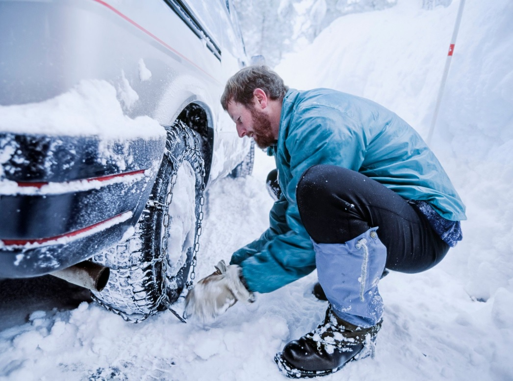 Snow socks and chains can provide much more grip to your tyres