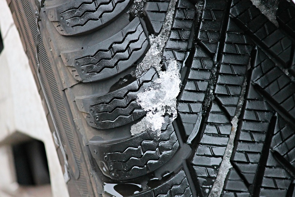 Winter tyres allow snow and ice to pass through them more easily